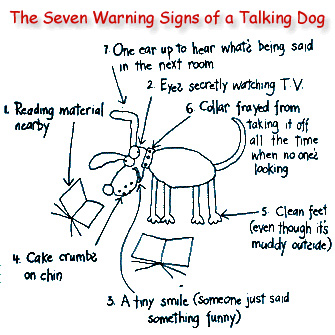 The seven warning signs of a talking dog